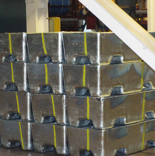 Steel galvanizing metal