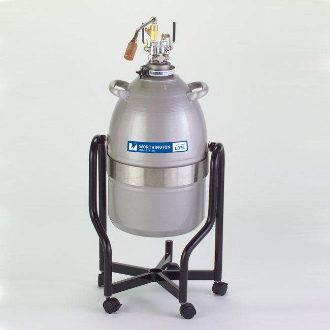 Tipping Stand for Liquid Nitrogen Dewar